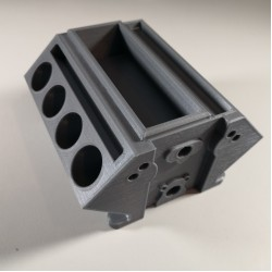 V8 Engine Block 3D Printed Business Card Holder