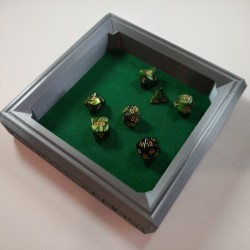 Dice Rolling Tray 3D Printed Dwarven Design Large