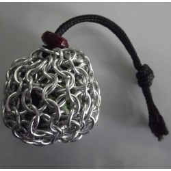 Small Silver Chainmaille Dice Bag