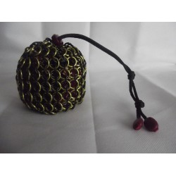 Harry Potter Hufflepuff Themed Large Chainmaille Dice Bag