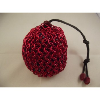 Large Red Chainmaille Dice Bag