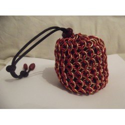 Marvel's Iron Man Themed Large Chainmaille Dice Bag