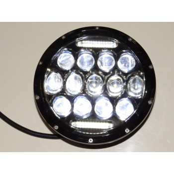 "7"" LED Headlight Spider Eye With DRL - Single"