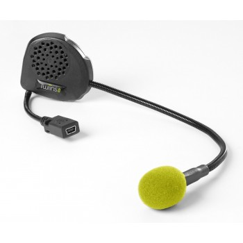 Twiins Hands Free Bluetooth Communication Intercom System Helmet Kit D1VA