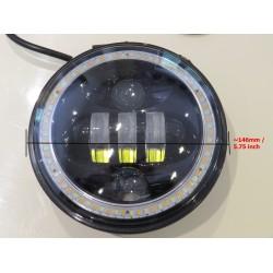 "5 & 3/4"" Headlight 3850 Lumen LED Pair Headlamp DRL/Indicator Halo"