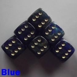 """15mm D6 """"Gold Mist"""" Blue"""
