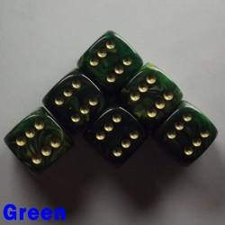 """15mm D6 """"Gold Mist"""" Green"""