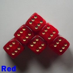 "15mm D6 ""Gold Mist"" Red"