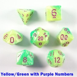 Elemental Yellow/Green with Purple Numbers