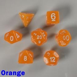 Translucent Glitter Orange