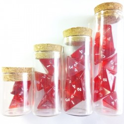 Gem Red Full Set of Healing Potions for 5e D&D (Engraved)
