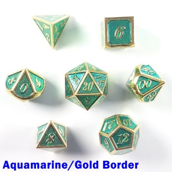 Bordered Aquamarine/Gold
