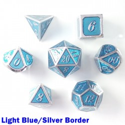Bordered Light Blue/Silver