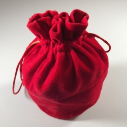 Large Red Dice Bag