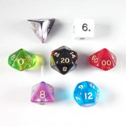 Random Mixed RPG Dice Set