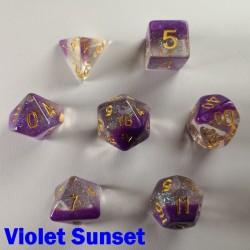 Snowglobe Violet Sunset