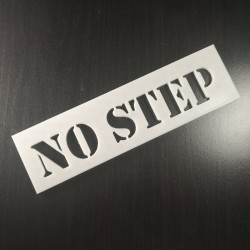 No Step Re-Usable Plastic Stencil