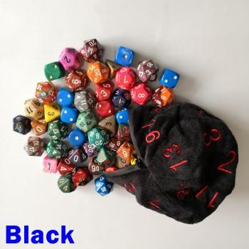 Large Black D20 Dice Bag