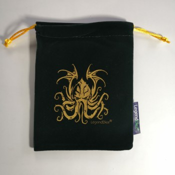 Large Cthulhu Dice Bag in Green