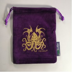 Large Cthulhu Dice Bag in Purple