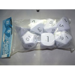 Giant Foam Dice RPG Set White