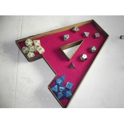 Wooden Letter Dice Tray