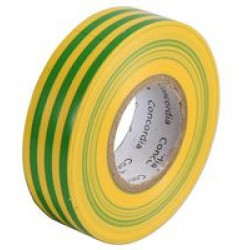 Electrical Tape 20m x 19mm Green/Yellow