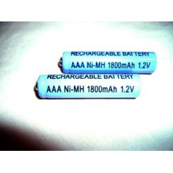 AAA size 1800mAh rechargeable pack of 2 or 4