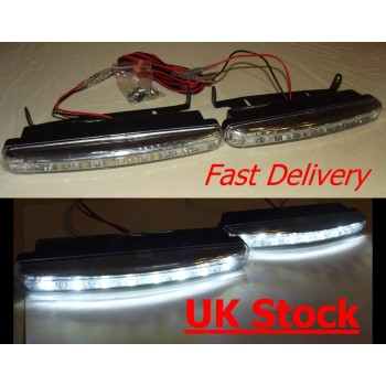 Audi Style 8 LED Daytime Running Lights DRL 160mm