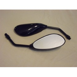 Black Teardrop Mirrors - Pair