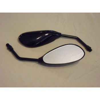 Black Teardrop Mirrors,Honda ,Suzuki,Kawasaki BNIB Motorcycle Bike