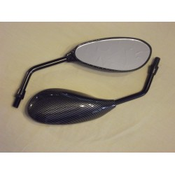 Carbon Look Teardrop Mirrors - Pair