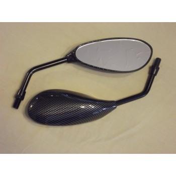 Carbon look Teardrop Mirrors,Honda ,Suzuki,Kawasaki BNIB Motorcycle Bike
