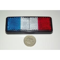 French Flag Reflector - Tricoleur Renault Peugeot Citroen Matra Aixam Microcar