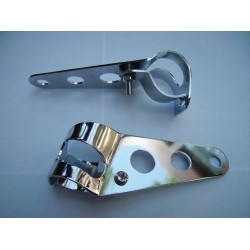 Headlight Mounting Brackets - Fork Brackets Chrome 28 - 38mm