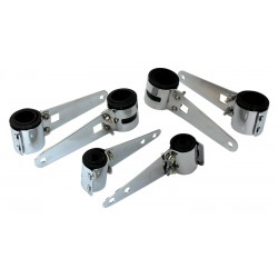 Headlight Mounting Brackets - Fork Brackets Chrome 43 - 48mm
