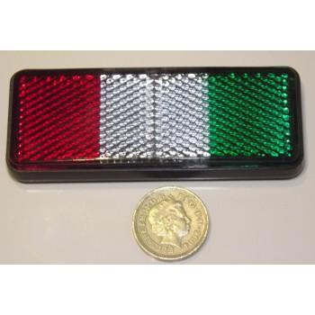 Italian Flag Reflector - Alfa Romeo Aprilia Benelli Fiat Guzzi Ducati Gilera Piaggio