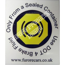 IVA Brake Fluid Label/Sticker