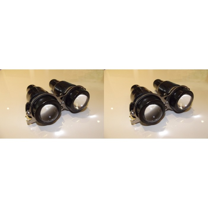 Miniature Twin Projector Headlamps Dip Main Beam Car