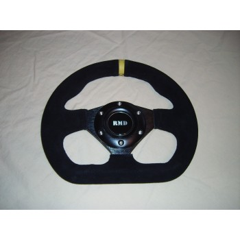 "Steering Wheel 255mm 10"" Suede Finish - Black"