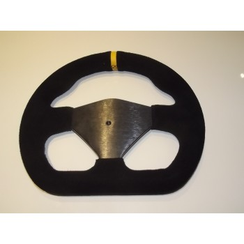 "Steering Wheel 255mm 10"" Suede Finish Blank Centre - Black"