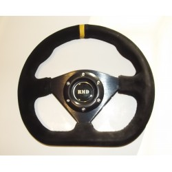 "Steering Wheel 285mm 11"" Suede Finish - Black"