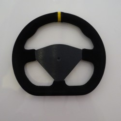"Steering Wheel 285mm 11"" Suede Finish Blank Centre - Black"