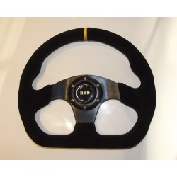 "Steering Wheel 320mm 13"" Suede Finish - Black"