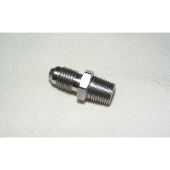Willwood Adaptors Male/Male Stainless Steel 27 x 1/8 NPT to 3/8 x 24 JIC