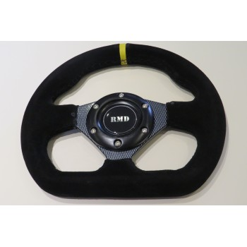 "Steering Wheel 255mm 10"" Suede Finish - Carbon"