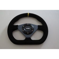 "Steering Wheel 285mm 11"" Suede Finish - Carbon"
