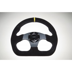 "Steering Wheel 320mm 13"" Suede Finish - Carbon"