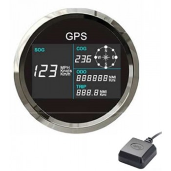 Tenet Waterproof Nautical Marine Digital GPS Speedometer In MPH/KPH/Knots With A Compass